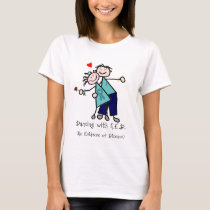Dancing with N.E.D. Ovarian Cancer T-Shirt