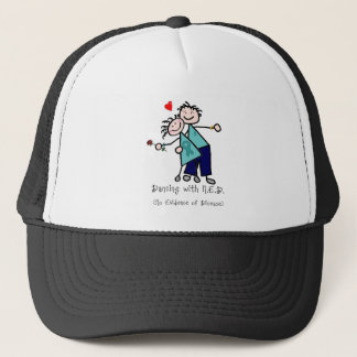 Dancing with N.E.D. Ovarian Cancer Trucker Hat