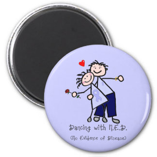 Dancing with N.E.D. - Stomach Cancer 2 Inch Round Magnet