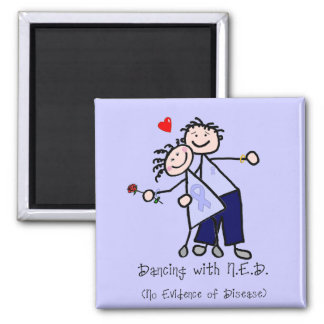 Dancing with N.E.D. - Stomach Cancer 2 Inch Square Magnet