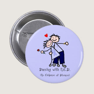 Dancing with N.E.D. - Stomach Cancer Pinback Button