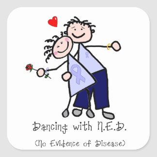 Dancing with N.E.D. - Stomach Cancer Square Sticker