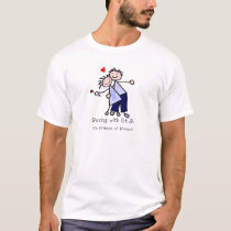 Dancing with N.E.D. - Stomach Cancer T-Shirt