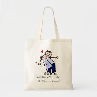 Dancing with N.E.D. - Stomach Cancer Tote Bag