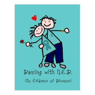 Dancing with N.E.D. Teal Ribbon Postcard