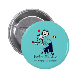 Dancing with N.E.D. Uterine Cancer Button
