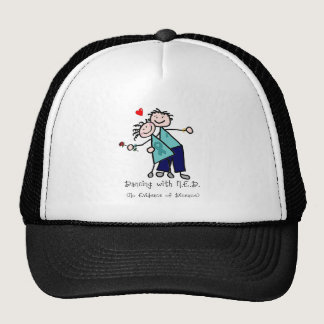Dancing with N.E.D. Uterine Cancer Trucker Hat