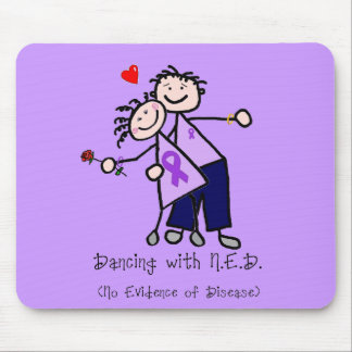 Dancing with N.E.D. - Violet Ribbon Mouse Pad