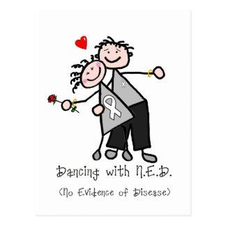 Dancing with N.E.D. - White Ribbon Postcard