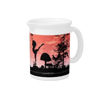 Dancing with the birds in the sunset beverage pitchers