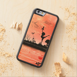 Dancing with the birds in the sunset carved® maple iPhone 6 bumper