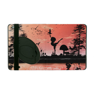 Dancing with the birds in the sunset iPad case