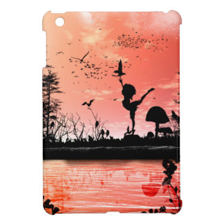 Dancing with the birds in the sunset iPad mini cover