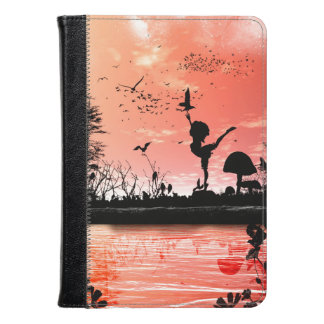 Dancing with the birds in the sunset kindle case