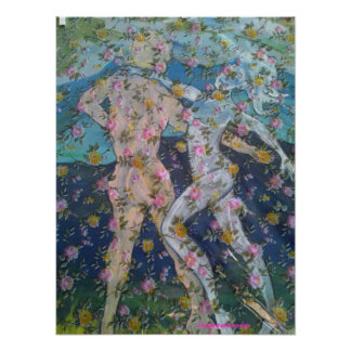 Dancing with the roses print