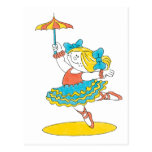 Dancing With Umbrella Postcards