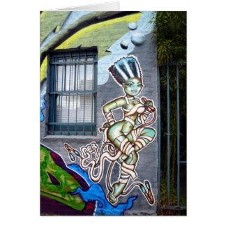 Dancing Woman Graffiti Card