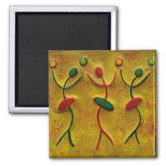 Dancing Women_Black African Art Gift Fridge Magnet
