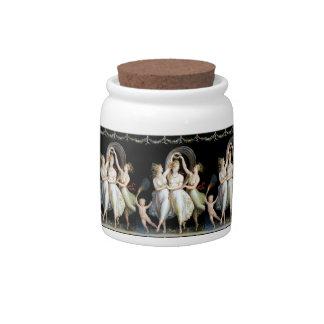 Dancing Women Candy Jar