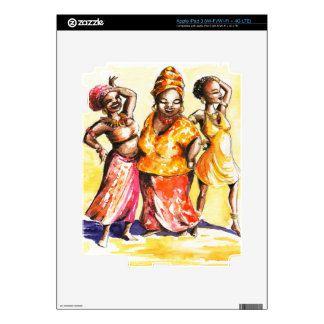 Dancing women iPad 3 decals