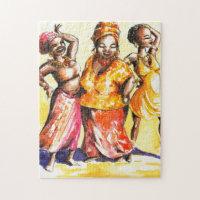 Dancing women jigsaw puzzle