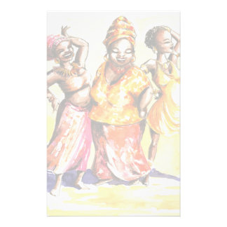 Dancing women stationery