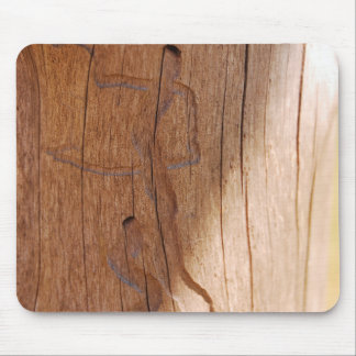 Dancing Wooden Figures Mouse Pad