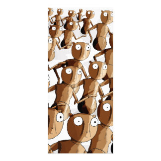 Dancing Wooden Robot Gofers Personalized Rack Card
