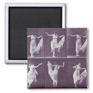 dancing wpman 2 inch square magnet