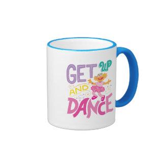 Dancing Zoe Ringer Coffee Mug