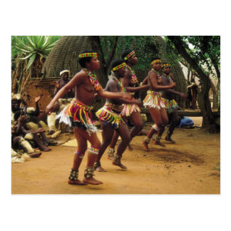 Dancing, Zulu Style - South Africa Post Cards