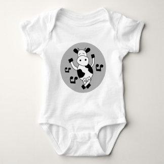 DancingCow4 Baby Bodysuit
