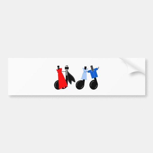 dancingmusicalnotes_Vector_Clipart Car Bumper Sticker