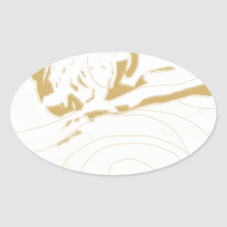 dancingwiththelionfadedsilouette.png oval sticker