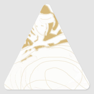 dancingwiththelionfadedsilouette.png triangle sticker
