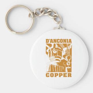 d'Anconia Copper / Copper Logo Basic Round Button Keychain