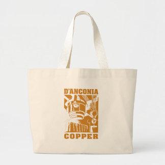 d'Anconia Copper / Copper Logo Large Tote Bag