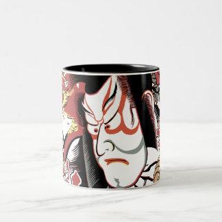 D'ANCONIA - FACE of the KABUKI Two-Tone Coffee Mug