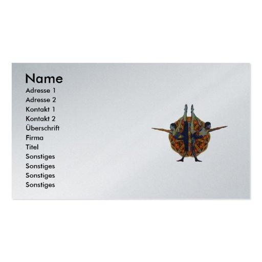 Dandayamana Dhanurasana 2010 as business card