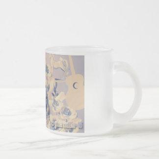 Dandelion 10 Oz Frosted Glass Coffee Mug