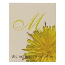 Dandelion 1 | Monogram Chic Floral Inspirational Faux Canvas Print