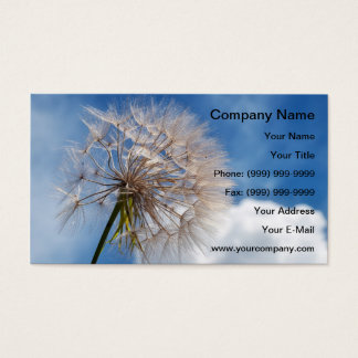 Dandelion and clouds business card