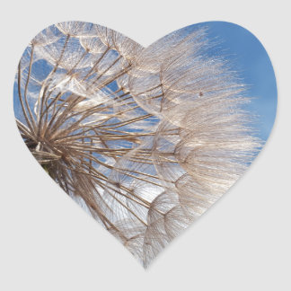 Dandelion and clouds heart sticker