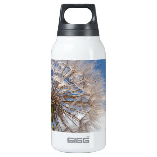 Dandelion and clouds insulated water bottle