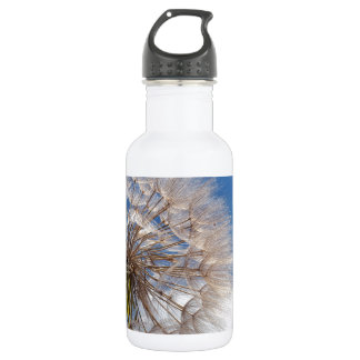 Dandelion and clouds stainless steel water bottle