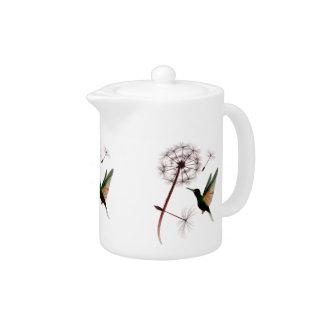 Dandelion and Hummingbird Teapot