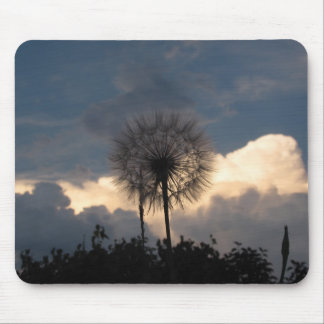 Dandelion and storm clouds mousepads