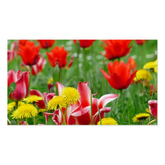 Dandelion and Tulip Meadow Business Card