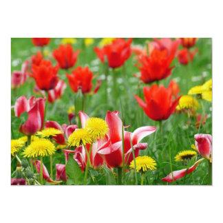 Dandelion and Tulip Meadow Card