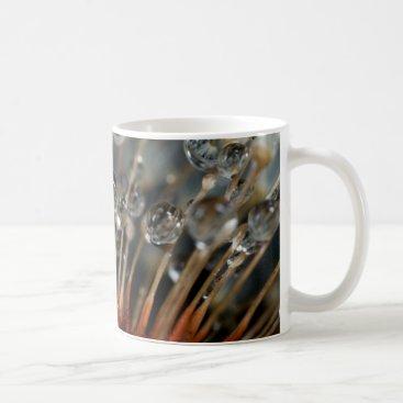 USA Themed Dandelion and water drops, CA Coffee Mug
